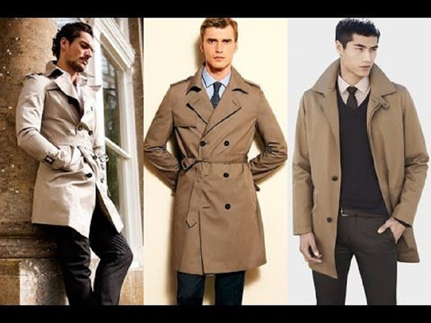 How to wear the men's trench coat?